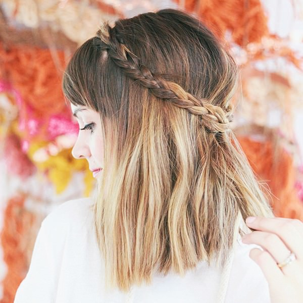 Braids can look amazing on short hair, too!