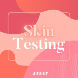 Skin testing procedures at Amour hair salon in Salford Greater Manchester