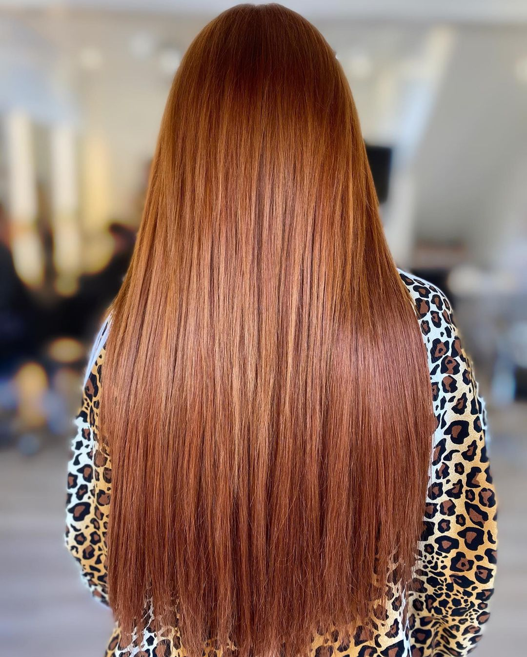 copper red hair colours at Amour hair salon in Salford
