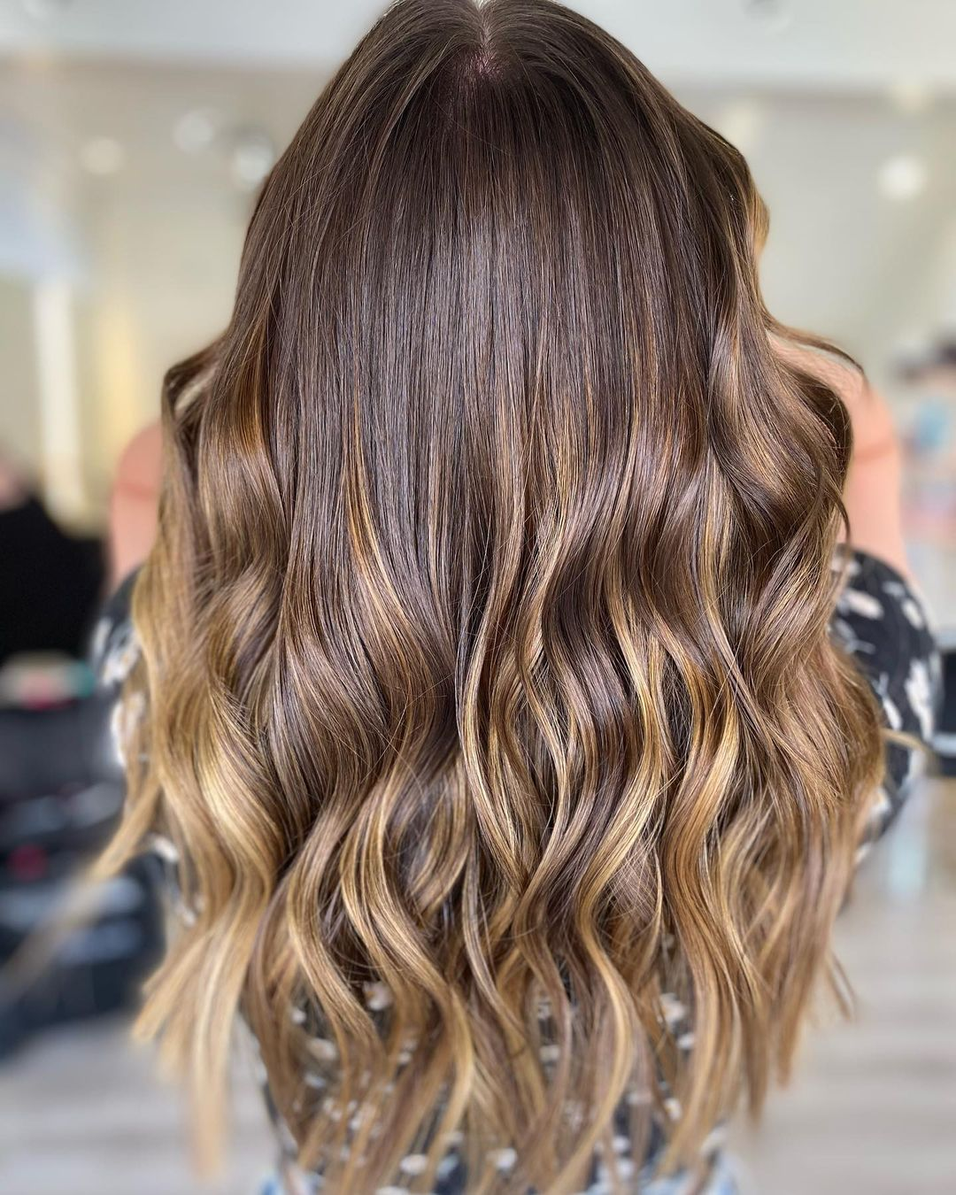 Balayage hair colours for brunettes at Amour hair salon in Greater Manchester